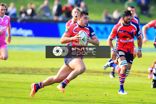 James Lowe in the Tasman Makos vs Hawkes Bay Magpies ITM Cup rugby match held at Lansdowne Park, Blenheim 17th August 2014. Photo Gavin Hadfield / Shuttersport