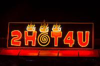 Neon sign, 2 Hot 4 U (bar), Koh Samui (island), Gulf of Thailand, Thailand
