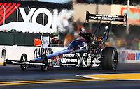 Jul. 26, 2013; Sonoma, CA, USA: NHRA top fuel dragster driver Spencer Massey during qualifying for the Sonoma Nationals at Sonoma Raceway. Mandatory Credit: Mark J. Rebilas-
