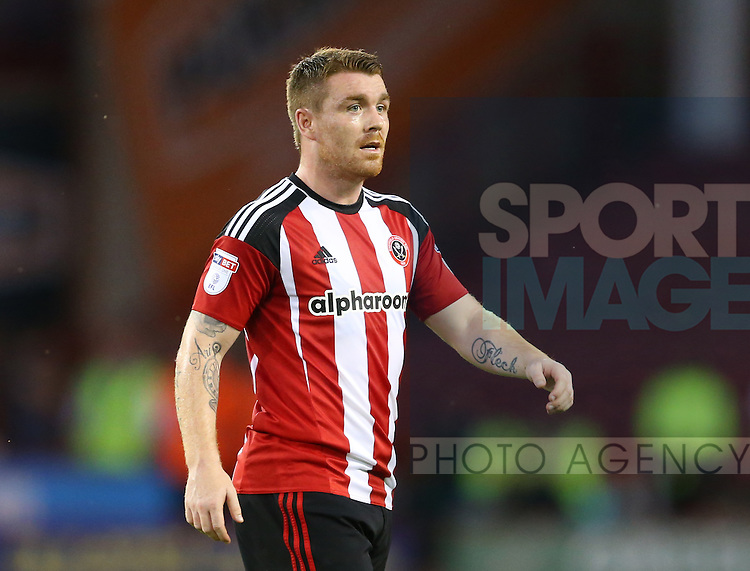 John Fleck of Sheffield Utd  during the Checkatrade Trophy match at Bramall Lane Stadium, Sheffield. Picture date: August 30th, 2016. Pic Simon Bellis/Sportimage