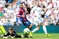 Real Madrid's Gareth Bale (r) and Levante UD's Raul Fernandez (l) and Pedro Lopez during La Liga match. September 9,2017. (ALTERPHOTOS/Acero)<br /> Real Madrid - Levante <br /> Liga Campionato Spagna 2017/2018<br /> Foto Alterphotos / Insidefoto <br /> ITALY ONLY