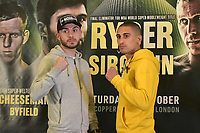 Ryan Doyle (L) and Jordan Gill during a Press Conference at the Courthouse Hotel on 13th September 2018