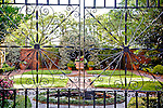 Garden at The Isaiah Davenport House and Museum (1820, Federal architecture), in Columbia Square, Savannah, GA, the largest National Historic Landmark District in the United States.