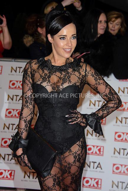 WWW.ACEPIXS.COM<br /> <br /> January 20 2015, London<br /> <br /> Stephanie Davis attends the National Television Awards at the O2 Arena on January 21 2015 in London<br /> <br /> <br /> By Line: Famous/ACE Pictures<br /> <br /> <br /> ACE Pictures, Inc.<br /> tel: 646 769 0430<br /> Email: info@acepixs.com<br /> www.acepixs.com