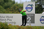 Francesco Molinari (ITA) tees off on the 2nd tee during the afternoon session on Day 2 of the Volvo World Match Play Championship in Finca Cortesin, Casares, Spain, 20th May 2011. (Photo Eoin Clarke/Golffile 2011)