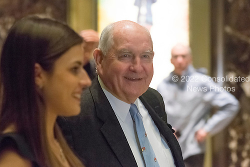 """Former Governor George """"Sonny"""" Perdue (Republican of Georgia) arrives for a meeting with United States President-elect Donald Trump at Trump Tower in New York, New York, USA on November 30, 2016. <br /> Credit: Albin Lohr-Jones / Pool via CNP"""
