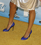 Actress Meagan Good 's shoes at the 2008 MTV Movie Awards on June 1, 2008 at the Gibson Amphitheatre in Universal City, California.