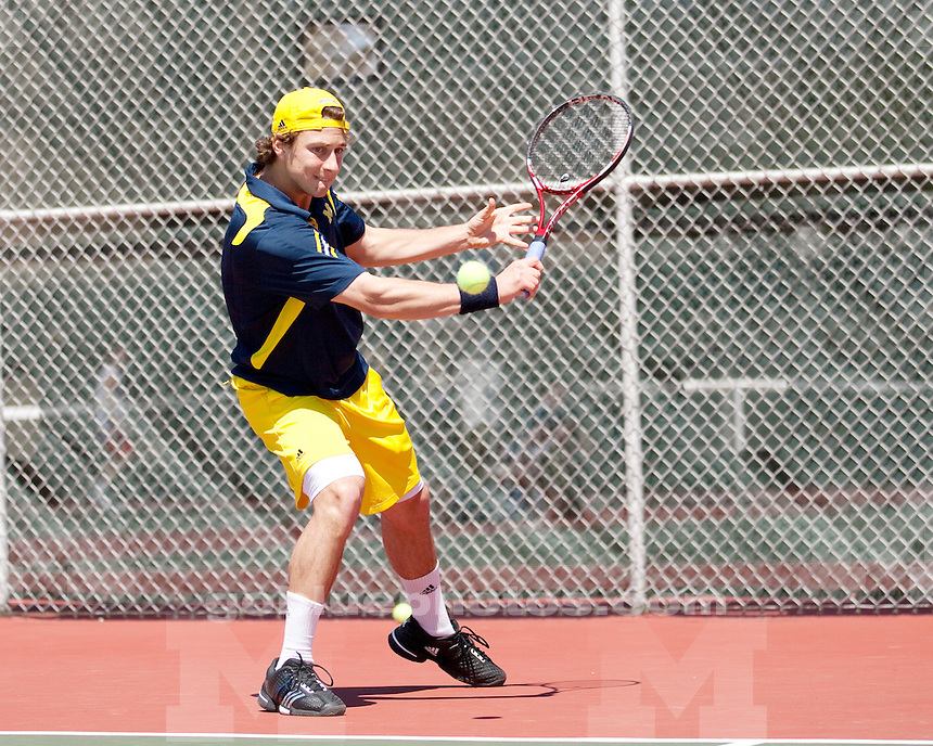 University of Michigan men's tennis 4-3 first round loss to Illinois at the 2011 Big Ten  Tournament in Madison, WI, on April 29th, 2011.