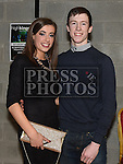Karl Morgan and Aoife Gregory pictured at St Kevin's GAA Club annual awards night in Phillipstown community centre. Photo:Colin Bell/pressphotos.ie