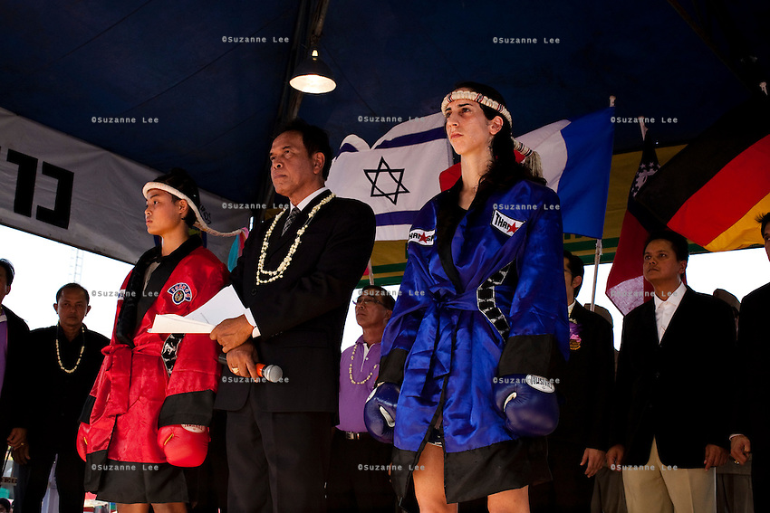 Shuki Rosenweig brings five fighters to fight in Phigit, a town 3 hours north of Bangkok, on 1st February 2010. Lital, Ilya, Gil and two other fighters, one from France and another from Brazil..Photo by Suzanne Lee for Chabad Lubavitch
