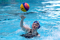 PICTURE BY ALEX WHITEHEAD/SWPIX.COM - Water Polo - Water Polo National Age Group Championships 2013 - Manchester Aquatics Centre, Manchester, England - 28/04/13 - Manchester (white) v Liverpool (blue) in the Youth Girls final.