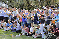 Crowds watching during the second round of the Mutuactivos Open de Espana, Club de Campo Villa de Madrid, Madrid, Madrid, Spain. 04/10/2019.<br /> Picture Hugo Alcalde / Golffile.ie<br /> <br /> All photo usage must carry mandatory copyright credit (© Golffile | Hugo Alcalde)