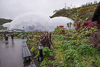 The domes of the Eden Project, St. Austell, Cornwall.