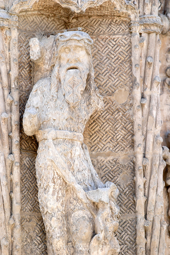 Iglesia de San Pablo church side entrance ornaments Valladolid spain castile and leon