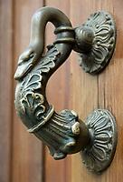 ESP, Spanien, Andalusien, Córdoba: Tuerklopfer   ESP, Spain, Andalusia, Córdoba: door knocker