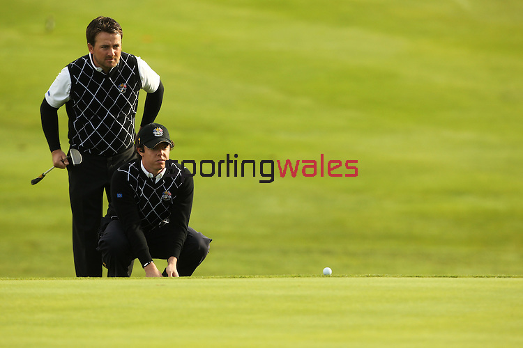 Ryder Cup 2010..Rory Mcllroy and Graeme McDowell..02.10.10.©Steve Pope.