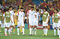 South Korea team group (KOR),<br /> JUNE 26, 2014 - Football / Soccer :<br /> South Korea players look dejected after the FIFA World Cup Brazil 2014 Group H match between South Korea 0-1 Belgium at Arena de Sao Paulo in Sao Paulo, Brazil. (Photo by SONG Seak-In/AFLO)