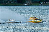 "(L to R): Jim Martin, E-43 ""Keen's Sunday Money"" (5 Litre class hydroplane), Matt O'Conner, E-34 ""The Gator"" (5 Litre class hydroplane) and Gordon Oakley, E-990 (5 Litre class hydroplane)"