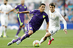 Real Madrid's Mateo Kovacic (r) and Malaga's Fornals during La Liga match. September 26,2015. (ALTERPHOTOS/Acero)