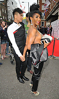 Dr. Vincent Wong and Sinitta at the British LGBT Awards 2018, London Marriott Hotel Grosvenor Square, Grosvenor Square, London, England, UK, on Friday 11 May 2018.<br /> CAP/CAN<br /> &copy;CAN/Capital Pictures