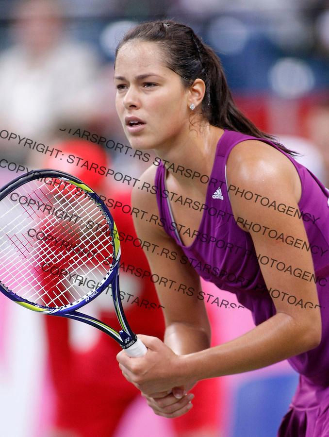 Tenis, FED CUP, world group B.Serbia Vs. Japan.Ana Ivanovic Vs. Ai Sugiyama.Ana Ivanovic.Beograd, 07.02.2009. .Photo: © Srdjan Stevanovic/Starsportphoto.com