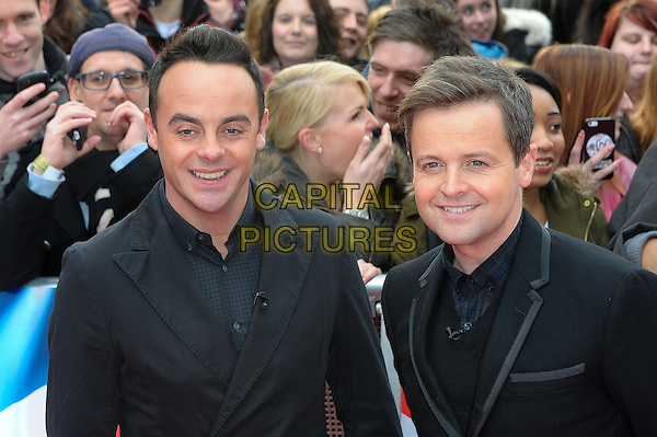 LONDON, ENGLAND - FEBRUARY 11: Anthony McPartlin and Declan Donnelly attends Britain's Got Talent London Auditions in Hammersmith on February 11, 2014 in London, England. <br /> CAP/CJ<br /> &copy;Chris Joseph/Capital Pictures