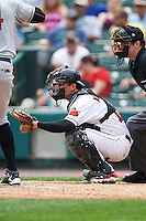 Rochester Red Wings catcher John Ryan Murphy (12) during a game against the Indianapolis Indians on May 26, 2016 at Frontier Field in Rochester, New York.  Indianapolis defeated Rochester 5-2.  (Mike Janes/Four Seam Images)