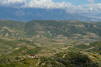 ALBANIA, Berat , small scale farming in the mountains / ALBANIEN, Berat, Landwirtschaft in den Bergen