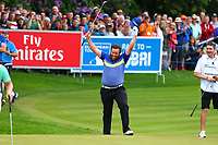 Andrew Johnston on the 18th during the BMW PGA Golf Championship at Wentworth Golf Course, Wentworth Drive, Virginia Water, England on 28 May 2017. Photo by Steve McCarthy/PRiME Media Images.