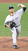 Baltimore, MD - August 31, 2009 -- New York Yankees pitcher Andy Pettitte (46) pitches in the first inning against the Baltimore Orioles at Oriole Park at Camden Yards in Baltimore, MD on Monday, August 31, 2009..Credit: Ron Sachs / CNP.(RESTRICTION: NO New York or New Jersey Newspapers or newspapers within a 75 mile radius of New York City)