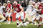 Wisconsin Badgers offensive lineman Tyler Biadasz (61) during an NCAA College Big Ten Conference football game against the Purdue Boilermakers Saturday, October 14, 2017, in Madison, Wis. The Badgers won 17-9. (Photo by David Stluka)