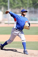 Yohan Gonzalez, Chicago Cubs 2010 minor league spring training..Photo by:  Bill Mitchell/Four Seam Images.