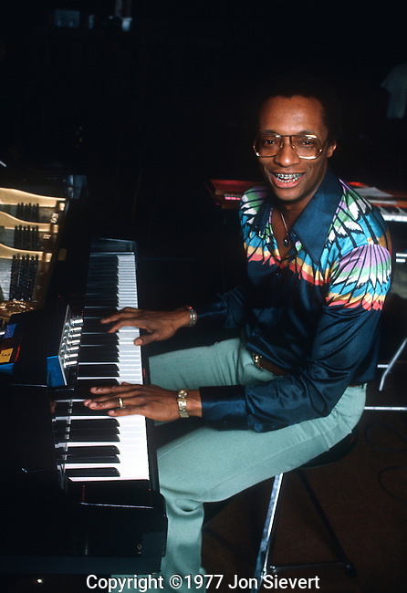 """Ramsey Lewis, Nov 1976. an American jazz composer, pianist and radio personality. He has been referred to as """"the great performer"""", a title reflecting his performance style and musical selections which display his early gospel playing and classical training (Bach, Beethoven, Brahms, etc.) along with his love of jazz and other musical forms. Ramsey Lewis has recorded over 80 albums and has received five gold records and three Grammy Awards so far in his career."""