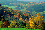 Fall view, South Peacham, Vermont, USA