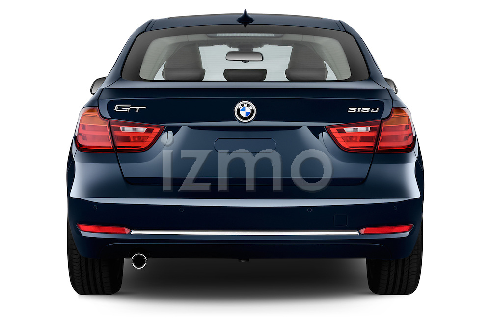 Straight rear view of a 2013 Bmw SERIES 3 Luxury 5 Door Hatchback 2WD