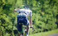Luke Durbridge (AUS/Orica-GreenEDGE) showering mid-race (to cool down in the blistering heat)<br /> <br /> 2014 Tour de France<br /> stage 12: Bourg-en-Bresse - Saint-Etiènne (185km)
