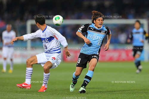 Yoshito Okubo (Frontale), .March 30, 2013 - Football / Soccer : .2013 J.LEAGUE Division 1, 4th Sec .match between Kawasaki Frontale 1-1 Ventforet Kofu .at Kawasaki Todoroki Stadium, Kanagawa, Japan. .(Photo by Daiju Kitamura/AFLO SPORT) [1045]