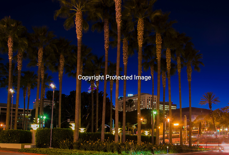 Stock photo of Downtown Los Angeles at night