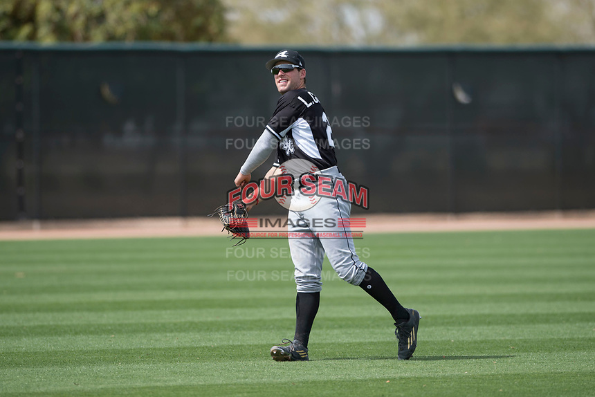 Chicago White Sox center fielder Luis Gonzalez (22) during a Minor League Spring Training game against the Chicago White Sox at Camelback Ranch on March 16, 2018 in Glendale, Arizona. (Zachary Lucy/Four Seam Images)