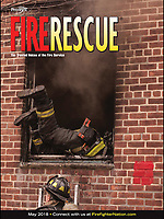 Fire Rescue Magazine May 2018 Cover Photo.