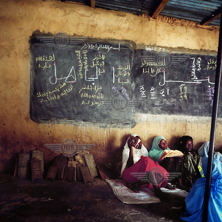 Students at a Koranic school in Zinder.