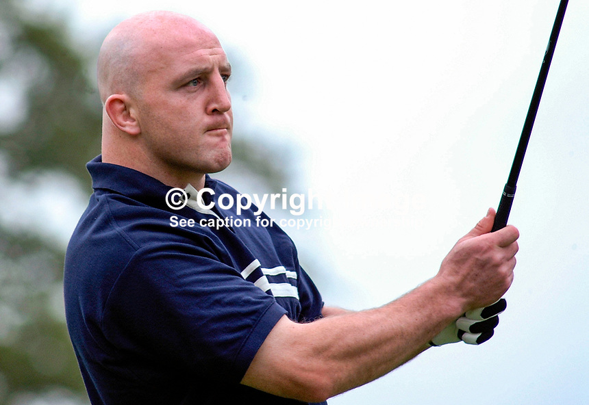 Keith Wood, Irish Rugby International, whose professional golfing partner was Thomas Bjorn, Thomas Björn, Denmark. Picture taken during pro-am before the Smurfit European Golf Championship at the K Club, Co Kildare, Rep of Ireland. Ref: 200207035869...Copyright Image from Victor Patterson, 54 Dorchester Park, Belfast, UK, BT9 6RJ..Tel: +44 28 9066 1296.Mob: +44 7802 353836.Voicemail +44 20 8816 7153.Skype: victorpattersonbelfast.Email: victorpatterson@mac.com.Email: victorpatterson@ireland.com (back-up)..IMPORTANT: If you wish to use this image or any other of my images please go to www.victorpatterson.com and click on the Terms & Conditions. Then contact me by email or phone with the reference number(s) of the image(s) concerned.