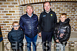 Eric, Michael and Michael Quirke Jnr getting a tour from Fionan Fitzgerald at the CBS, The Green open night on Thursday.