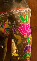 Painted elephants, Amber Fort, Amber (near Jaipur), Rajasthan, India