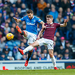 24.02.18 Rangers v Hearts:<br /> Russell Martin and Euan Henderson