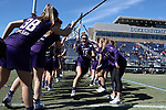 DURHAM, NC - FEBRUARY 18: Northwestern's Jill Girardi (15). The Duke University Blue Devils hosted the Northwestern University Wildcats on February 18, 2018, at Koskinen Stadium in Durham, NC in women's college lacrosse match. Duke won the game 9-8.