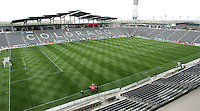Rapids new stadium just before the gates open for the first MLS contest held there. In their first game in their new stadium Colorado Rapids held on to beat DC United 2-1 at Dick's Sporting Goods Park in Commerce City, Colorado on April 7 2007 before the first sellout crowd in Rapids history.
