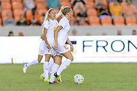 Houston, TX - Saturday July 30, 2016: Abigail Dahlkemper during a regular season National Women's Soccer League (NWSL) match between the Houston Dash and the Western New York Flash at BBVA Compass Stadium.