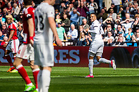 Sunday April 02 2017 <br /> Pictured: Matrin Olsson of Swansea City in action  <br /> Re: Premier League match between Swansea City and Middlesbrough at The Liberty Stadium, Swansea, Wales, UK. SUnday 02 April 2017
