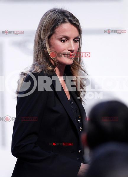 Princess Letizia of Spain attends the 'El Barco de Vapor' literature awards .April 9, 2013.(ALTERPHOTOS/Acero) /NortePhoto